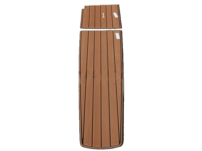 NON-SKID FAUX TEAK 200 CLOSED BOW 2 PC