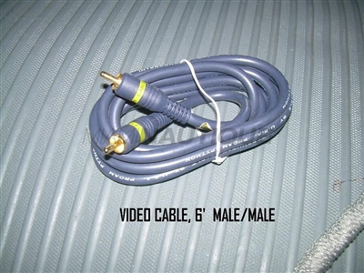 VIDEO CABLE 6'  MALE/MALE