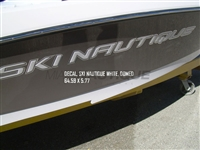"Ski Nautique Starboard or Port White Domed Decal 64.59"" x 5.77"" - 100253"