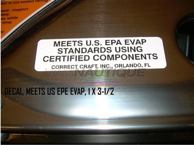 DECAL MEETS US EPE EVAP 1 X 3-1/2