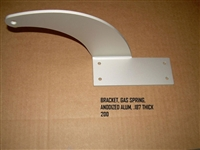 BRACKET GAS SPRING ANODIZED ALUM .187 THICK