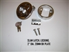 SLAM LATCH LOCKING 2   DIA. 20MM BK PLATE