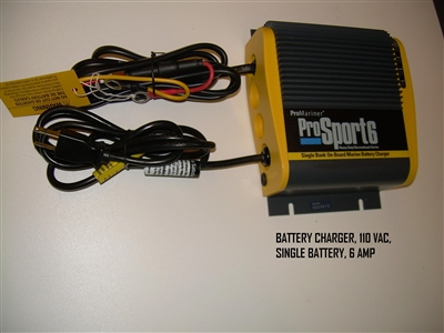 BATTERY CHARGER 110 VAC SINGLE BATTERY 6 AMP