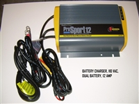 BATTERY CHARGER 110 VAC DUAL BATTERY 12 AMP