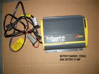 BATTERY CHARGER 220VAC DUAL BATTERY 12 AMP 110015