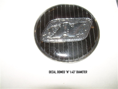 "DECAL DOMED ""N"" 1.43"" DIAMETER"