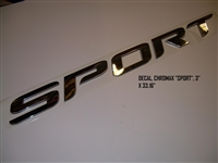 "DECAL CHROMAX ""SPORT"" 3"" X 33.16"""