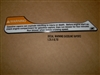DECAL WARNING GASOLINE VAPORS 1.25 X 6.70  110182