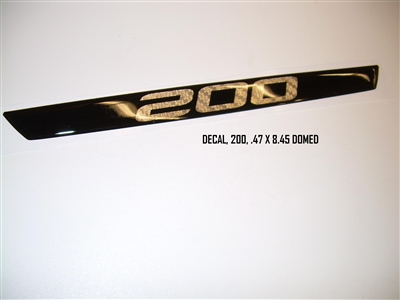 DECAL 200 .47 X 8.45 DOMED 110187