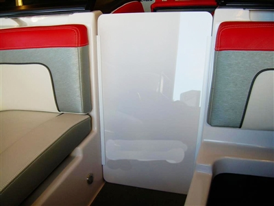 AIR DAM DOOR SPORT 200 SILVER CLOUD ACRYLIC WITH TRACKS