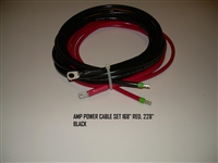 AMP POWER CABLE SET 168   RED 228   BLACK 120022