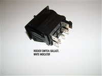 ROCKER SWITCH BALLAST WHITE INDICATOR