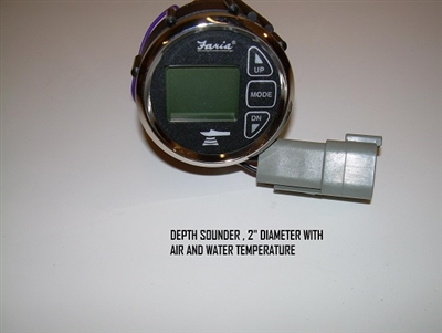 "DEPTH SOUNDER 2""  DIAMETER WITH AIR AND WATER TEMPERATURE"