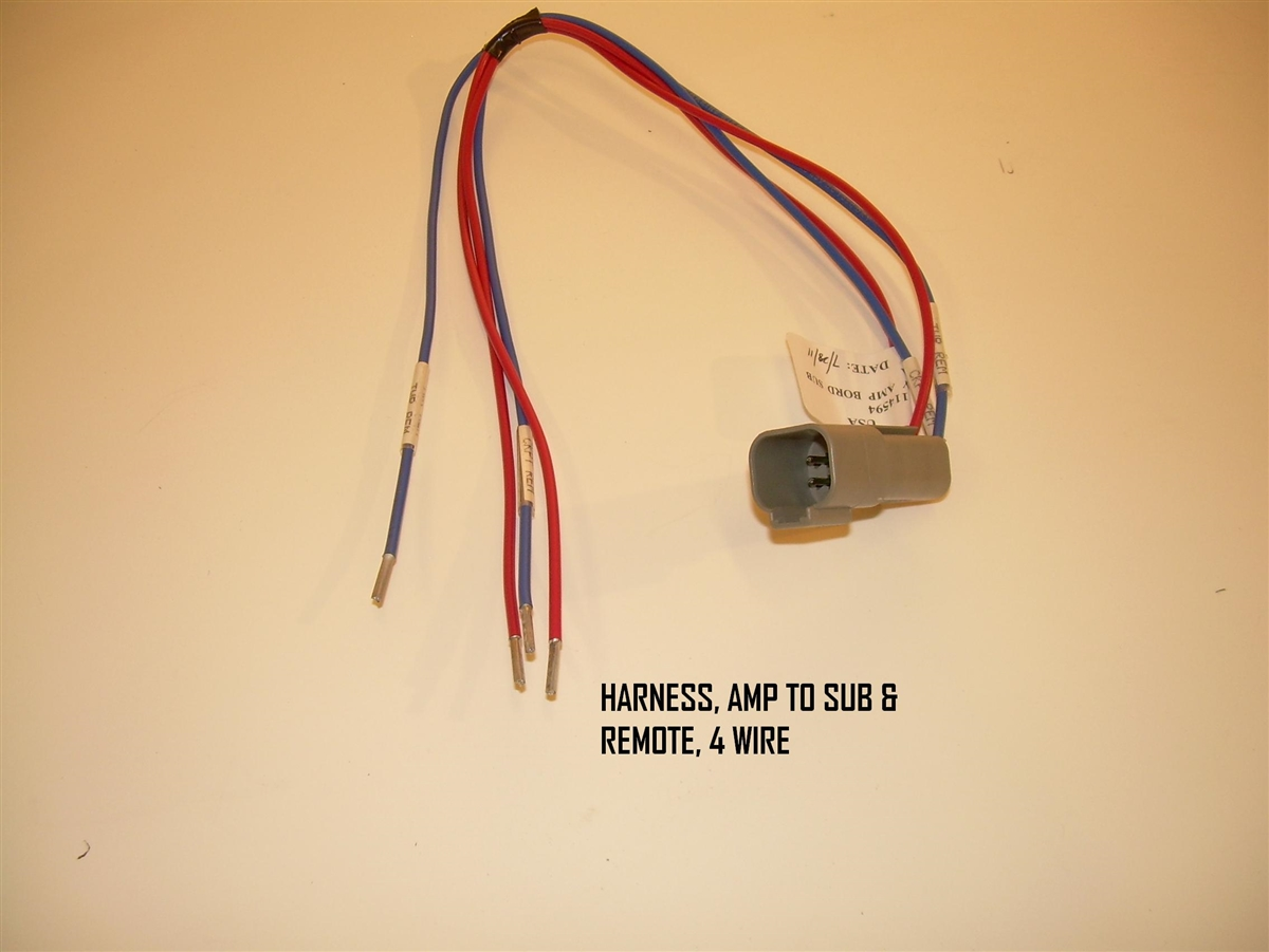 Amp To Sub & Remote 4 Wire Harness for Nautique Boats - 120081 Wiring Harness For Boats on engine for boats, generator for boats, fuse boxes for boats, radio for boats, tachometer for boats, subwoofer enclosures for boats, wiper motor for boats, control module for boats, floor boards for boats, mirror for boats, speaker for boats, suspension for boats, trim ring for boats, blower motor for boats, gas tank for boats, stone guards for boats, accessories for boats, led dome lights for boats, ignition switch for boats, windshield for boats,