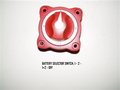 BATTERY SELECTOR SWITCH 1 - 2 - 1+2 - OFF