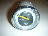 OIL PRESSURE GAUGE, FARIA WITH SILVER BEZEL - REPLACED BY #70022