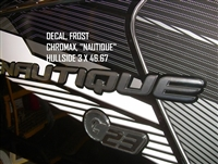 "Frost Chromax ""Nautique"" Hullside Decal, 3"" x 46.67"" - 130085"