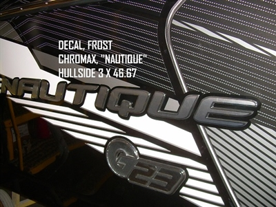 "DECAL, FROST CHROMAX, ""NAUTIQUE"" HULLSIDE 3 X 46.67 130085"