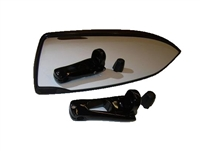 DELUXE MIRROR WITH EXTENSION BLACK 130129 Nautique mirror