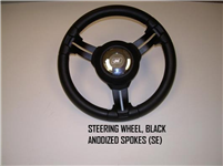 STEERING WHEEL BLACK ANODIZED SPOKES (SE) - 130269