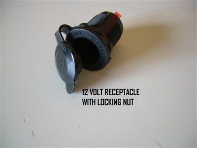 12 VOLT RECEPTACLE WITH LOCKING NUT - 130297