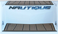 NAUTIQUE TRANSOM DECAL CHROMAX BRIGHT CHROME 1.39 x 18  140016