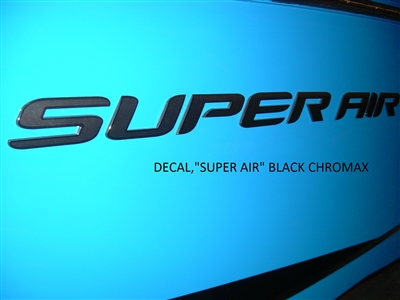 DECAL - SUPER AIR BLACK CHROMAX 140057