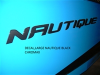 DECAL - LARGE NAUTIQUE BLACK CHROMAX 140089