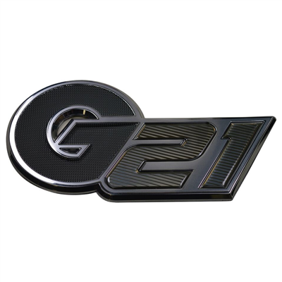 """G21"" Nautique Black Chromax Designator Decal - 140060"