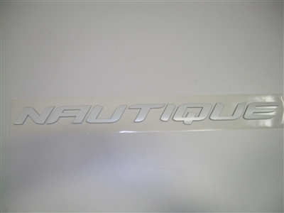 NAUTIQUE TRANSOM CHROMAX DECAL WHITE 1.39 X 18 170277