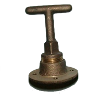 DRAIN PLUG, T-HANDLE W/BASE ORIGINAL NAUTIQUE - 2177