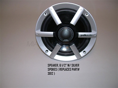 6 1/2-In Nautique Boat Speaker with Silver Spokes Part #3012