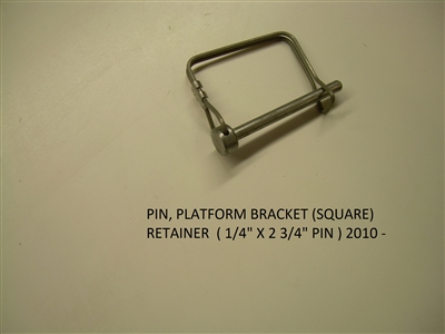 "PIN PLATFORM BRACKET (SQUARE) RETAINER  ( 1 1/4"" X 2 1/4"" ) 2010 -On - 3274"