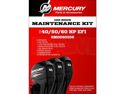 Mercury 8M0090558 40‑60 EFI Service Kit 100 Hour