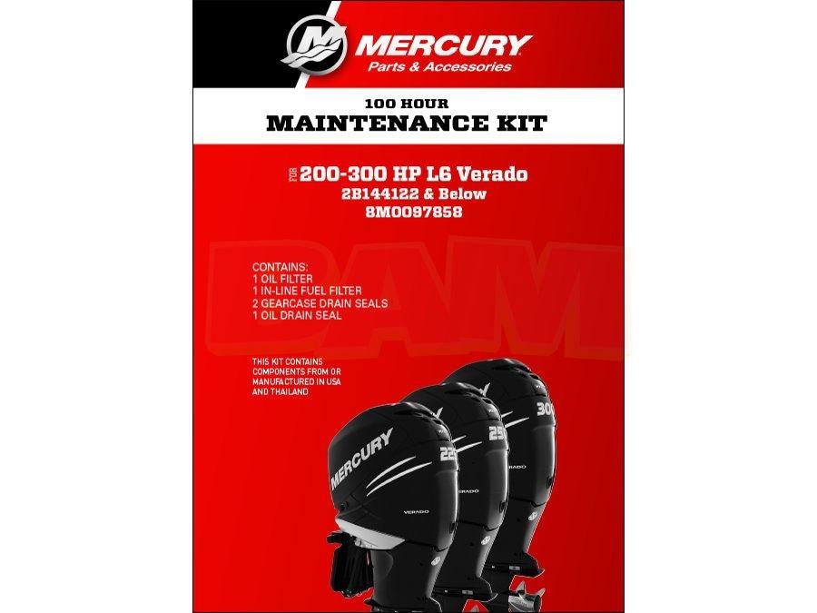 100 hour Maintenance Service Kit Mercury 8M0097858 L6 Verado Four Stroke