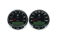 Mercury/Mercruiser 79-8M0135633 Tach/Speedo Kit 80 MPH,7K Black