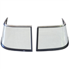 WINDSHIELD WINGS, 216V & 226, 2009-2012 STAINLESS STEEL