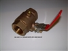 BALL VALVE 1- 1/4 IN W/RED LOCKING HANDLE - 90451