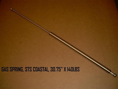 "STAINLESS STEEL GAS SPRING 30.75"" 140 LBS - 90536"