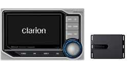 "CLARION MARINE ""BLACK BOX"" DIGITAL MEDIA RECEIVER WITH WATERTIGHT COMMANDER CMS5"