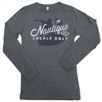 Locals Only L/S Tee - Deep Heather Grey