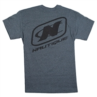 LOGO TEE - DARK HEATHER GREY