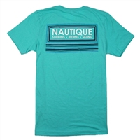 OUTLINE TEE - HEATHER SEA GREEN