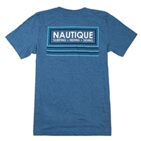 OUTLINE TEE - HEATHER DEEP TEAL