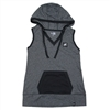 LADIES NEW ERA HOODIE TANK - BLACK TWIST