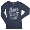 Ladies L/S Marquee Tee - Deep Blue