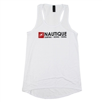 LADIES TRIFECTA FREEDOM TANK - WHITE