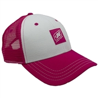 Ladies Life Cap - Fuchsia / White