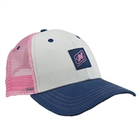 LADIES LIFE CAP - WHITE / PINK / SLATE