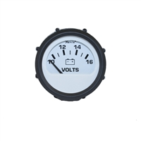 VOLTMETER, FARIA REPLACEMENT FOR VDO WHITE (FOR 1990 TO 1993 NAUTIQUES) - S8935
